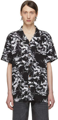 Levi's Levis Black and White Halftone Palm Short Sleeve Shirt