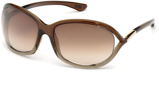 Tom Ford Jennifer Open-Temple Round Sunglasses
