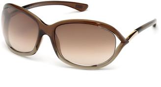 Tom Ford Jennifer Open-Temple Round Sunglasses