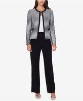 Tahari ASL Metallic-Stripe Pantsuit