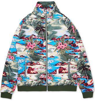 Lrg Men Hiloha Tropical Pattern Track Jacket