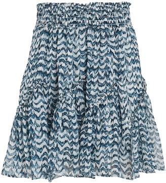 Intermix Mae Printed Silk Mini Skirt