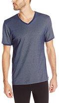 Kenneth Cole New York Men's Ribbed Pique V-Neck T-Shirt