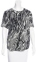Equipment Silk Zebra Print Top