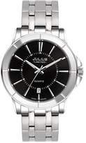 Julius Limited Edition JAL-037MB Men's Silver-Tone Easy Reader Quartz Analog Link Bracelet Watch