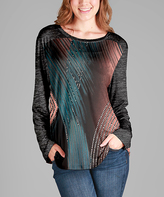 Aster Mauve Abstract Tunic - Plus Too