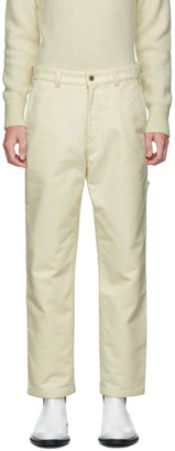 Ami Alexandre Mattiussi Off-White Worker Straight-Fit Trousers