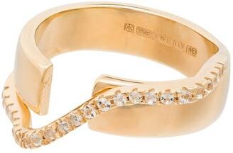 Cornelia Webb Crystal Double Ring