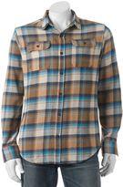 Burnside Men's Plaid Flannel Button-Down Shirt