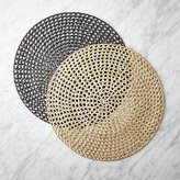 CB2 Round Rattan Placemats