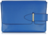 Tila March Lee Cobalt Leather Clutch