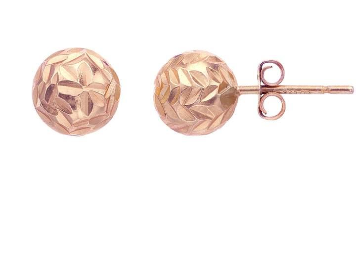 be9bdf6fe Rose Gold Ball Stud Earrings - ShopStyle
