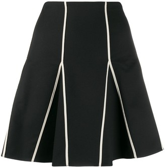 RED Valentino Contrasting Trim Pleated Skirt