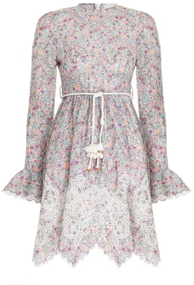 Zimmermann Carnaby Frill Short Dress