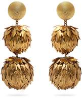 REBECCA DE RAVENEL Lightening clip-on earrings
