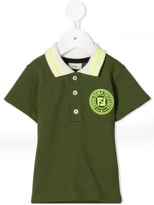 Fendi Kids Circle Logo Polo Shirt