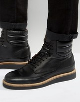 Zign Shoes Leather Lace Up Boots