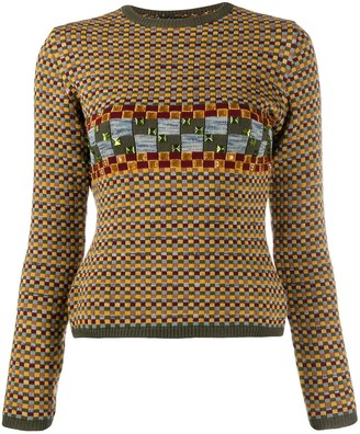 Jean Paul Gaultier Pre Owned 1990's Gem Embroidered Jumper