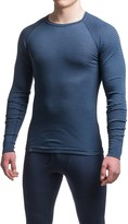 Ibex Woolies 1 Striped Crew Neck Base Layer Top - Merino Wool, Long Sleeve (For Men)