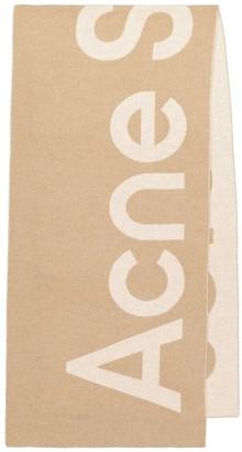 Acne Studios Logo wool-blend scarf