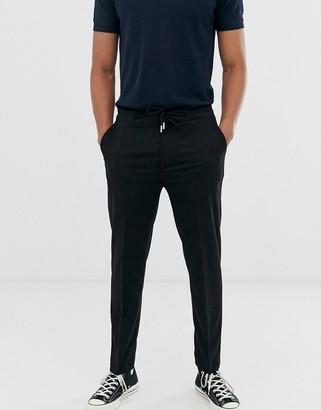 Celio slim trousers in navy pinstripe