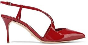 Sergio Rossi Bon Ton Patent-leather Slingback Pumps