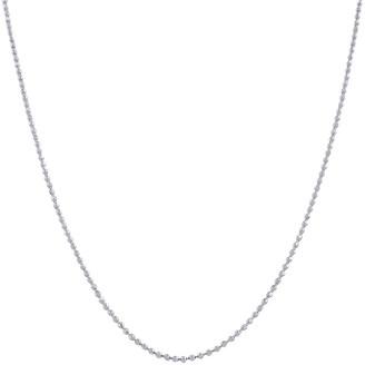 Fremada 14k White Gold 16-inch Diamond-cut Ball Chain