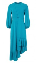 Tibi Savanna Crepe Ruffle Dress
