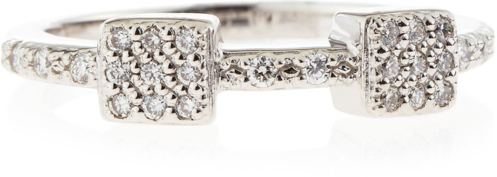 Charriol Two-Station Diamond Pave Ring, Size 6.5