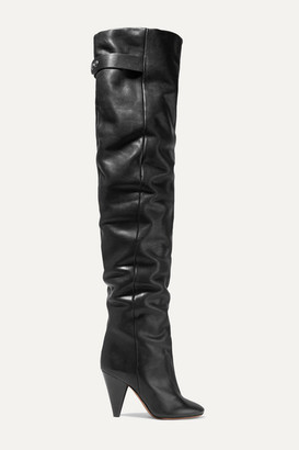 Isabel Marant Likita Leather Over-the-knee Boots - Black