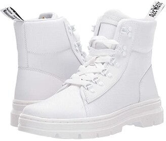 Dr. Martens Combs Tract (White/White Ajax/Extra Tough Nylon) Women's Shoes