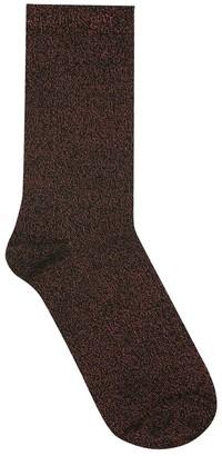 M&Co Teen girl lurex glitter ankle socks