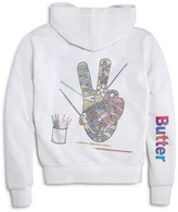 Butter Shoes Girls' Peace Sign Hoodie - Big Kid