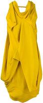 Rick Owens draped cowl neck dress - women - Silk/Acetate - 38