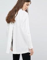 Vila Oversized Split Back Shirt