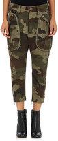 Faith Connexion Women's Camouflage-Print Chevron-Weave Cargo Pants-GREEN