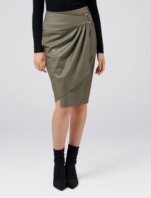 Ever New Isla Wrap Faux Leather Pencil Skirt