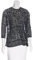 Rachel Comey Distressed Eyelet-Accented Top