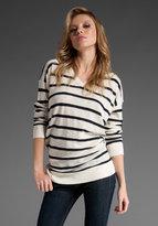 Inside Out Stripe Vee Sweater