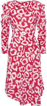 Isabel Marant Carley Pleated Printed Silk-blend Crepe De Chine Midi Dress