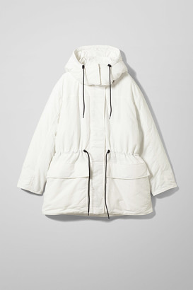 Weekday Zimbra Padded Jacket - White