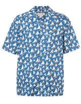 Marni Yacht Print Shirt - Blue - Size IT48