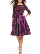 Jessica Howard Sequined Taffeta Party Dress