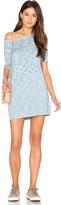 MinkPink Space Dye Knit Mini Tee Dress