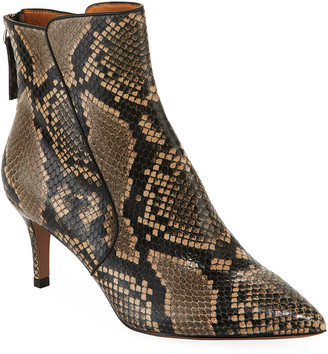 Veronica Beard Josie Python-Printed Booties