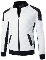 Benibos Mens Fashion Motocycle Faux Leather Jacket