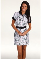 Fred Perry Amy Winehouse Collection Jukebox Printed Shirt Dress (White) - Apparel