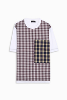 Joseph Crew Neck Check T-Shirt