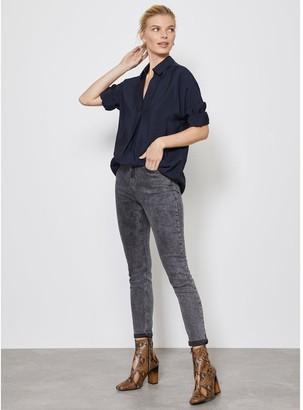 Mint Velvet Oversized Shirt - Navy