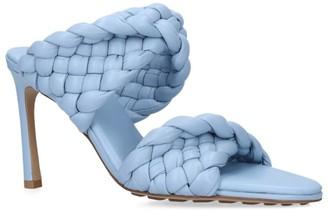 Bottega Veneta Leather Twist Lido Mules 90